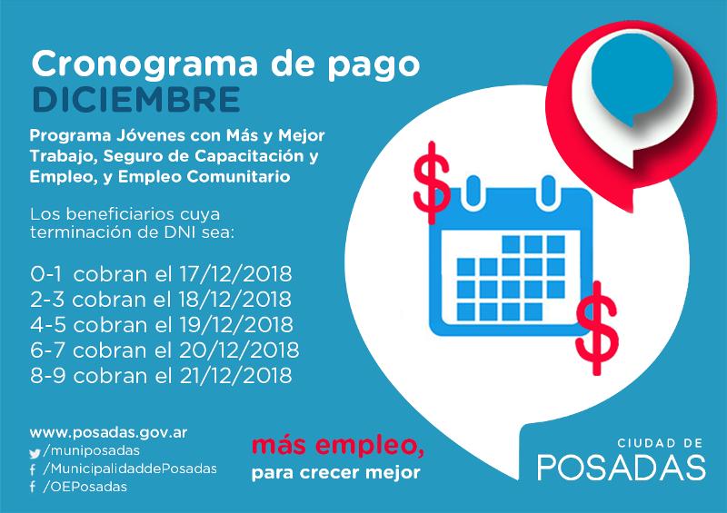 El lunes comienza el pago de los programas de la Ofcinia de Empleo