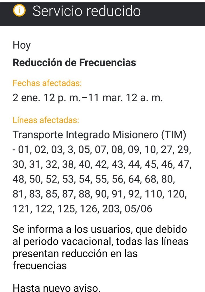 El municipio posadeño multará a empresas de colectivos que disminuyan las frecuencias