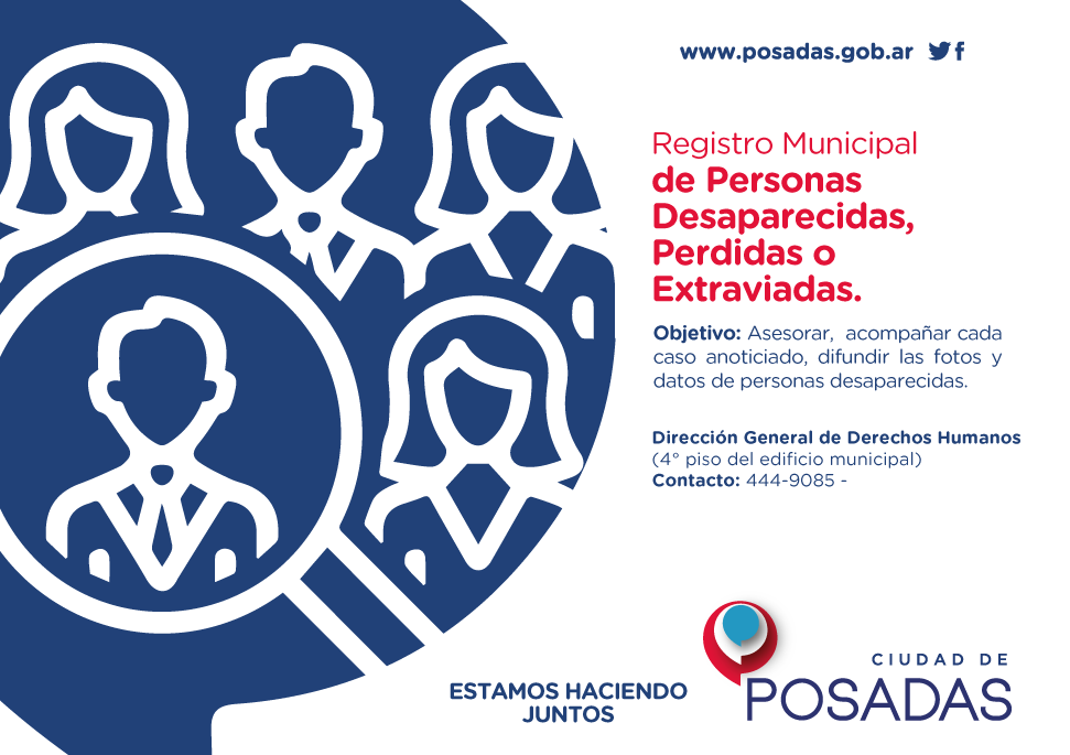 "El municipio de Posadas comenzó a trabajar con ""Missing Children Argentina"""